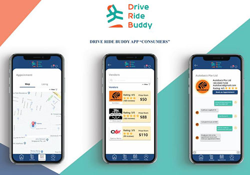 Drive Ride Buddy User Interface with Poly Students